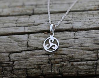 Triskelion Pendant, Triskele Pendant, Necklace Charm Only, Triskelion Jewellery, Silver Jewellery, Silver Pendant, Triskelion Charm