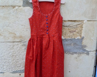 Vintage 1970/70s Authentic Girl Dirndl Tyrol Austria german Dress size 6 years