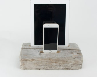 On Sale! Docking Station for iPhone, iPhone Charger, iPhone Charging Station, iPhone driftwood dock, wood iPhone dock/ Driftwood-No.1026