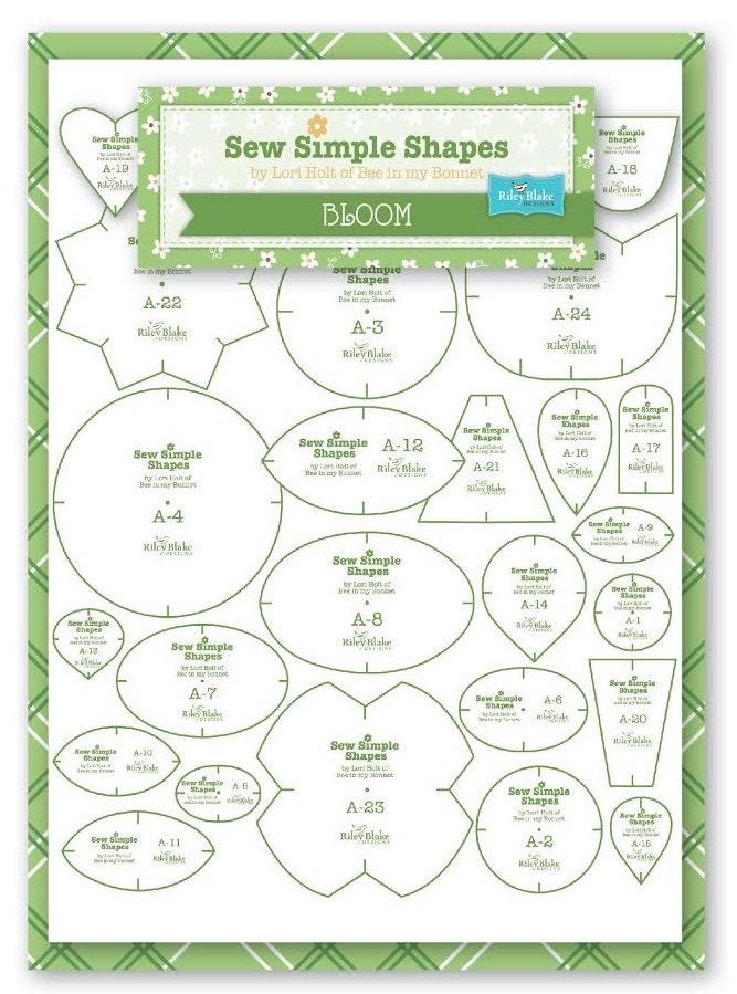 BLOOM Sew Simple Shapes Applique Templates