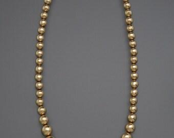 Tiffany 14k Gold Ball Necklace