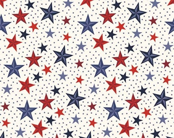 SALE Lost and Found Americana Stars Cream - Riley Blake Designs - Patriotic USA - Quilting Cotton Fabric - choose your cut