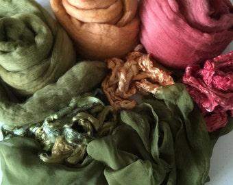 Nuno Felting scarf kit, Nuno Scarf Kit, Nuno Supplies, Silk Gauze