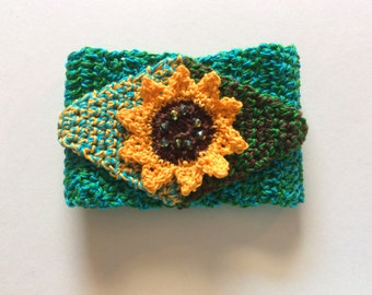 Crocheted Sunflower or Diamond Cuffs PDF
