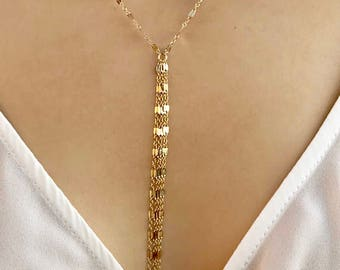 chain fill wrap double market gold necklace etsy il lariat rose