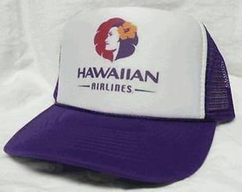 Hawaiian Airlines hat trucker hat mesh hat adjustable New