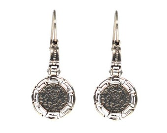 """STERLING  SILVER  925 BYZANTINE  Earrings """"Phaistos Disk"""""""