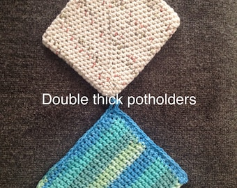 Crocheted Double thick potholders