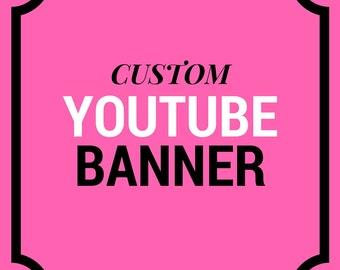 CUSTOM Youtube Banner | Youtbe Header | Youtube Cover | Youtube Branding - Social Media Branding