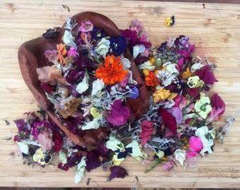 Dried Flower confetti, Flower girl, Wedding table decor, Tossing Flowers, Petal Confetti