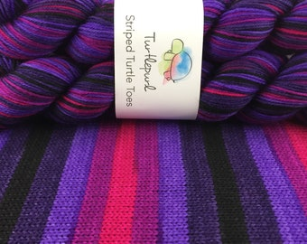 Derby - Hand Dyed Self Striping Sock Yarn