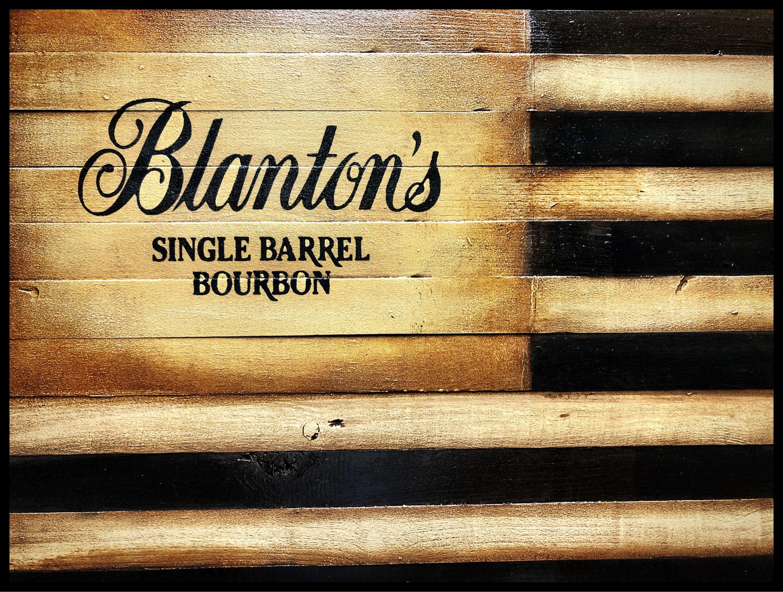 Blantons Single Barrel Bourbon, Blantons Bourbon Flag, Whiskey Sign ...