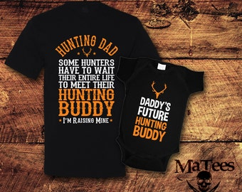 Father Son Matching Shirt, New Dad Gifts, Dad and Baby Matching Shirts, Father's Day Shirt, Hunting, Hunter, T-Shirt, Shirt, Tee