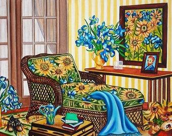 Art Print, van Gogh Print, van Gogh Sunflowers Prints, van Gogh Gifts, Sunflowers