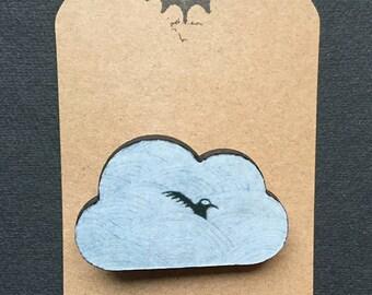 Crow Cloud Brooch