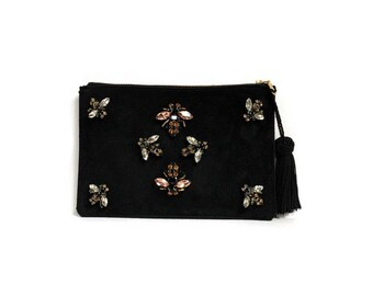 Jeweled Bee Clutch