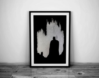 Batman Art Batman Print Batman Poster Batman Decor Superhero Art Superhero Print Superhero Decor Comic Book Art Superhero Poster Batman Gift