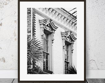 Printable Photography, Charleston Art, Architecture Photography, Black and White Art, Downloadable Photo