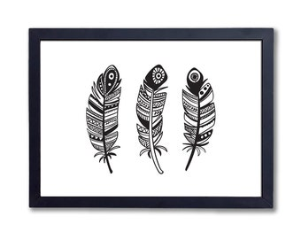 "Three Feathers, A4 8x10"" A3 or 11x14"", printed"