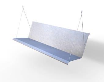 Westdale Modern Porch Swing - Matte Finish - Stainless Steel