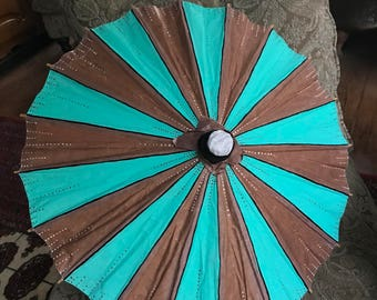 Hand painted vintage parasol