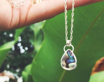 double sided abalone necklace