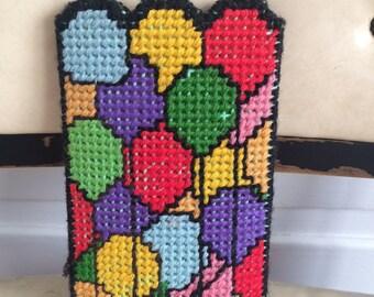 Vintage Multi-Color Crochet Sunglass Case