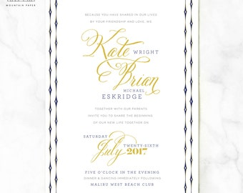 Wright Nautical Wedding Invitations