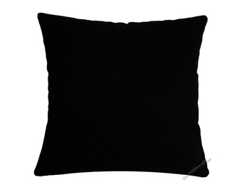 Jet Black Solid Decorative Throw Pillow Cover / Pillow Case / Cushion Cover / Cotton / 20x20""