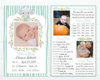 """Elephant Theme Baby's First Year Memory """"Book"""""""