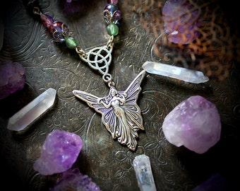 Fairy necklace etsy aloadofball Gallery