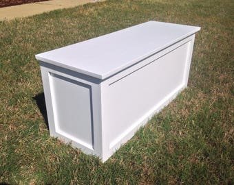 Large Storage Bench / Entryway Bench /Rustic Bench / Mudroom Bench / Antique Bench / Shoe Rack / White Storage Bench /