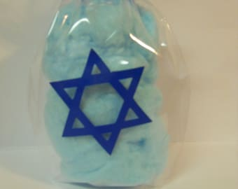Hanukkah Cotton Candy, Stocking Stuffer, Christmas Party Favor, Holiday Party Treats