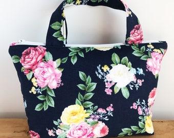 Large Makeup Bag - Floral Makeup Bag - Large Toiletry Bag - Cosmetic Bag - Gift for Wife - Pretty Makeup Bag