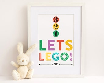 Lets Lego! Kids Poster (DIGITAL FILE)