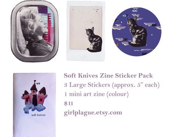 Soft Knives Zine/Sticker Pack