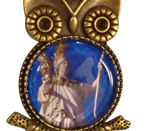 Greek Goddess Athena Owl Necklace