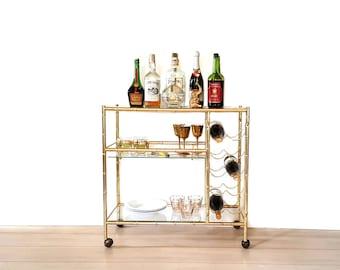 bar cart etsy. Black Bedroom Furniture Sets. Home Design Ideas