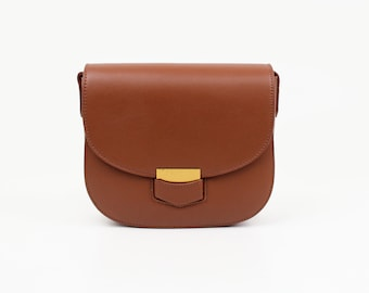Brown leather crossbody bag brown leather bag shoulder bag handmade leather bag women's brown leather purse everyday bag purse leather