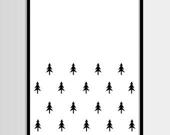 Scandinavian tree print, Kids print, Nursery decor, Kids room, Printable Wall Art, Childrens print, Digital print, Instant Download 8x10