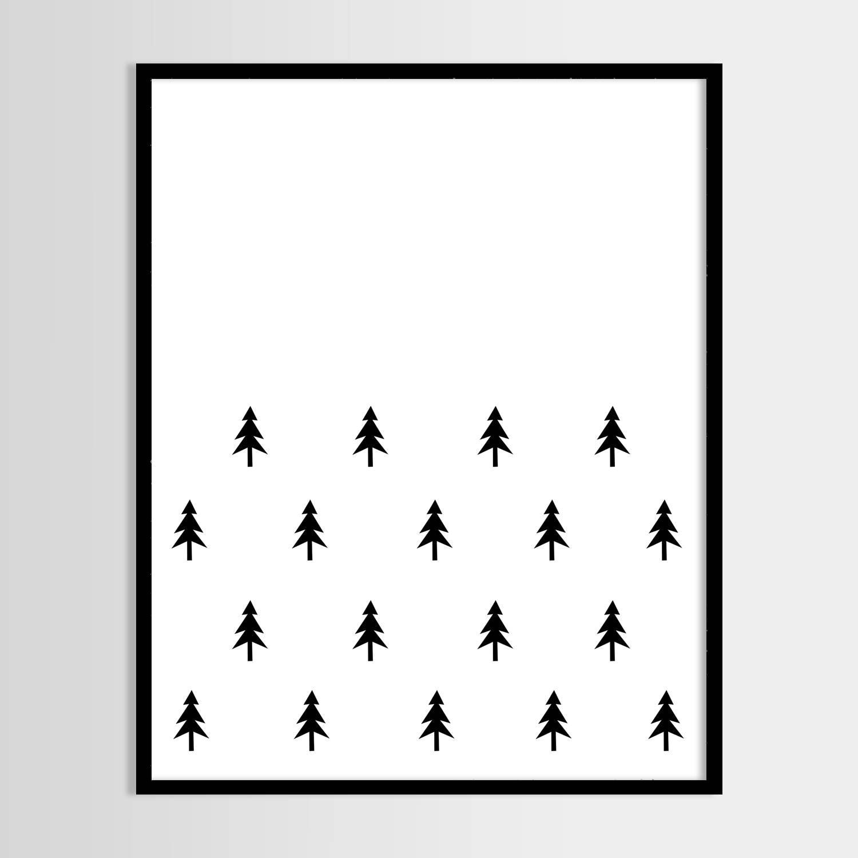 Favourite Scandinavian Nursery Kids Room Decor Items: Scandinavian Tree Print Kids Print Nursery Decor Kids Room