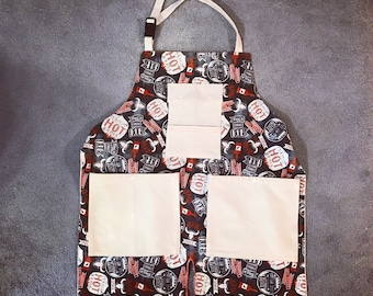 BBQ Apron / Grilling Apron / Manly Apron /Made To Order