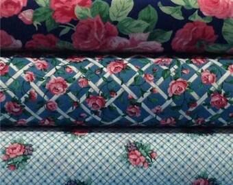 Rose Trellis Shabby Cottage Quilt Kit Fabric Bundle