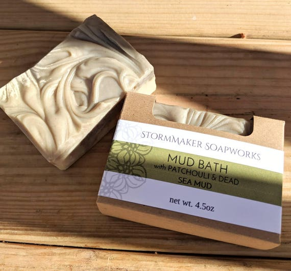 Mud Bath, All Natural Patchouli Soap with Dead Sea Mud and Clay's, Palm Free