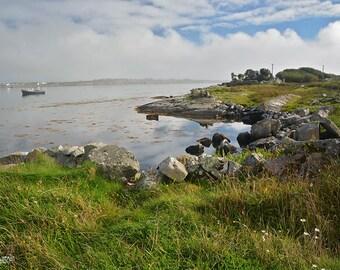 Ireland, Irish, Connemara, County Galway, Coastline, Wild Atlantic Way, Fishing, Coastal Living, Big Sky, Blue, Green, Margaret Dukeman, Art
