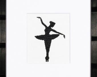 Counted Cross Stitch Kit Ballet Silhouette 1