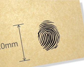 Clear Acrylic Stamp. Finger Print stamp