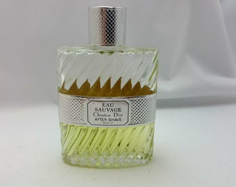 Eau Sauvage By Christian Dior After Shave 3.4oz - Used 45% Full - Free Shipping