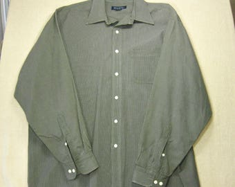 Brooks Brothers Men's Button Down Long Sleeve Shirt, XL, 1990s Vintage Men's Clothing