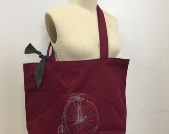 Red bike shopping bag